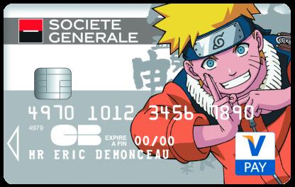 Très Société Générale: Les cartes option Collection Naruto et Man of  NS21