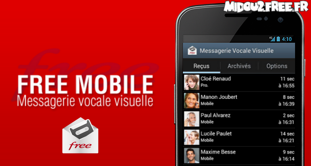 messagerie mobile free